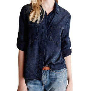 Anthro Cloth & Stone Lauralee Chambray Shirt | L